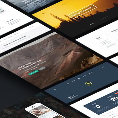 Generator for Startup Framework: Create Landing Page - Designmodo