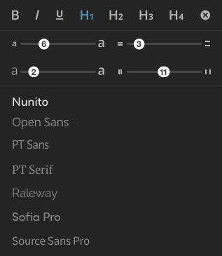 Font Settings Panel
