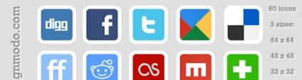 Free Social Bookmarks/Networking Icons Set