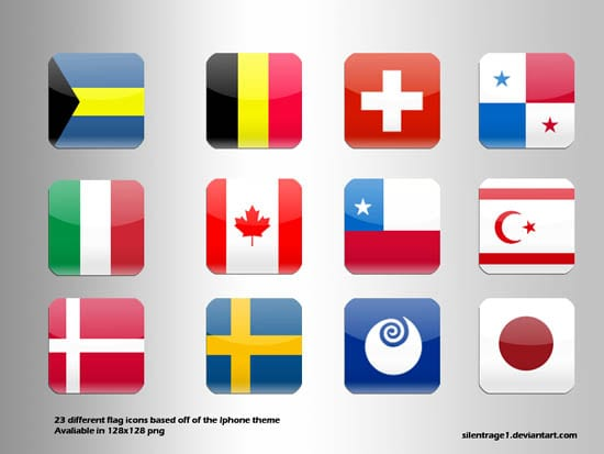 Ultimate Collection of National (Country) Flag Icon Sets - Designmodo