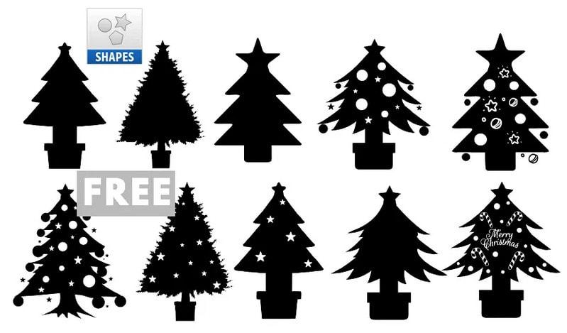 Christmas Tree Custom Shapes