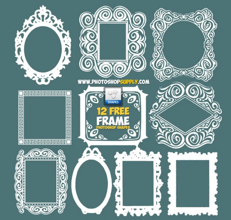 Photoshop Frame Shapes Free Download