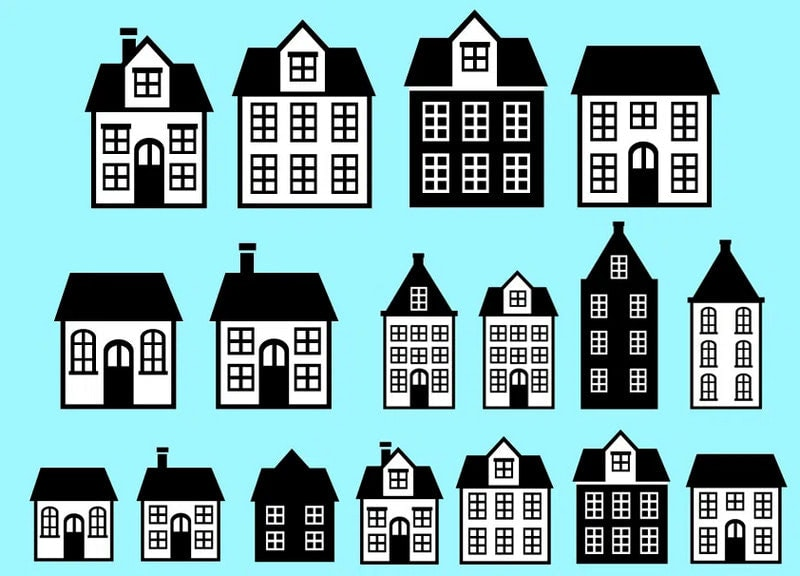 Free Custom Shapes of Houses for Photoshop