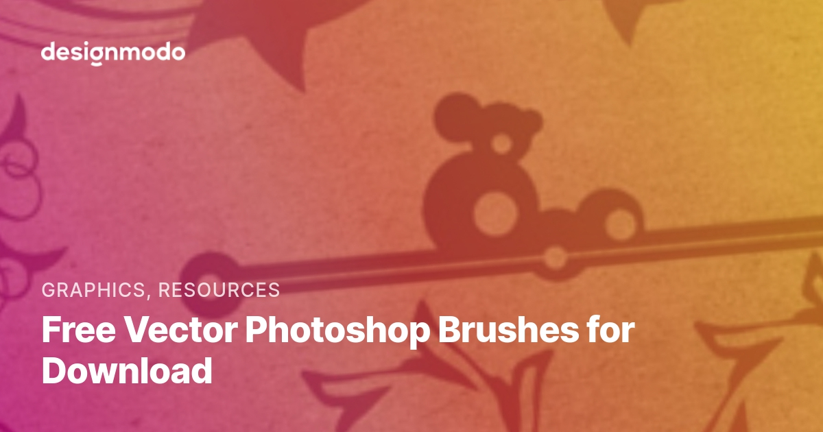 Free Vector Photoshop Brushes for Download - Designmodo