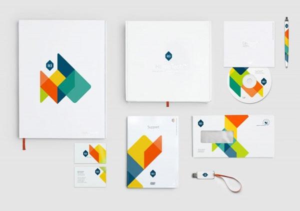 Corporate Identity Design  Logo Orange