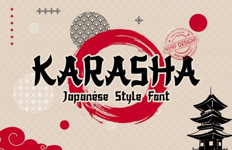 Karasha - Japanese-style Typeface