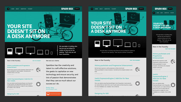 Responsive web design 50 examples and best practices Best home plans website