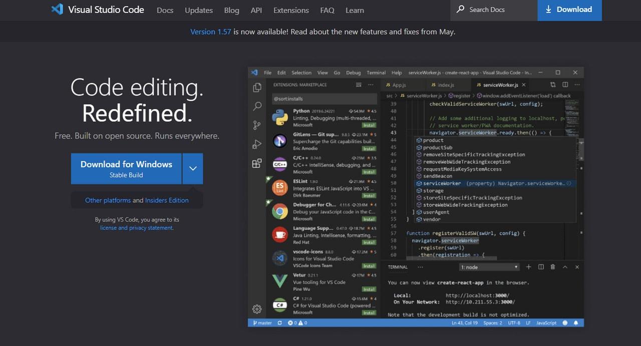 Visual Studio Code – Free Code Editor