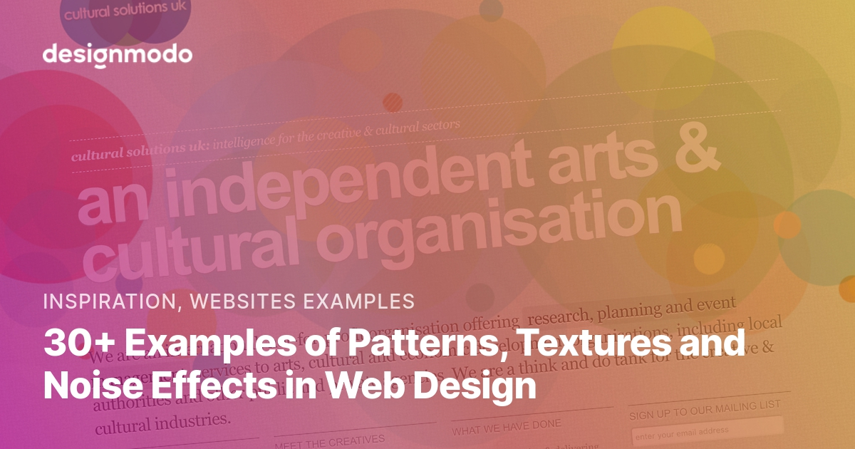 30+ Examples of Patterns, Textures and Noise Effects in Web
