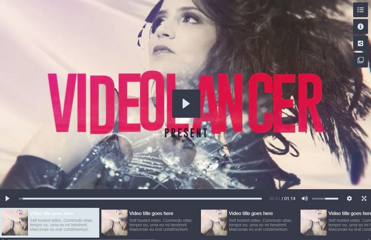 Modern Video Gallery Player