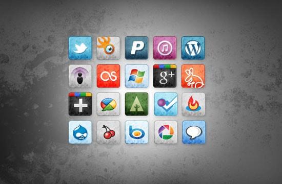 New Sets of Free Social Media & Bookmarking Icons - Designmodo