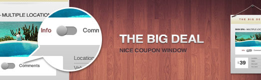 The Big Deal – Free Elegant Coupon Window (PSD)