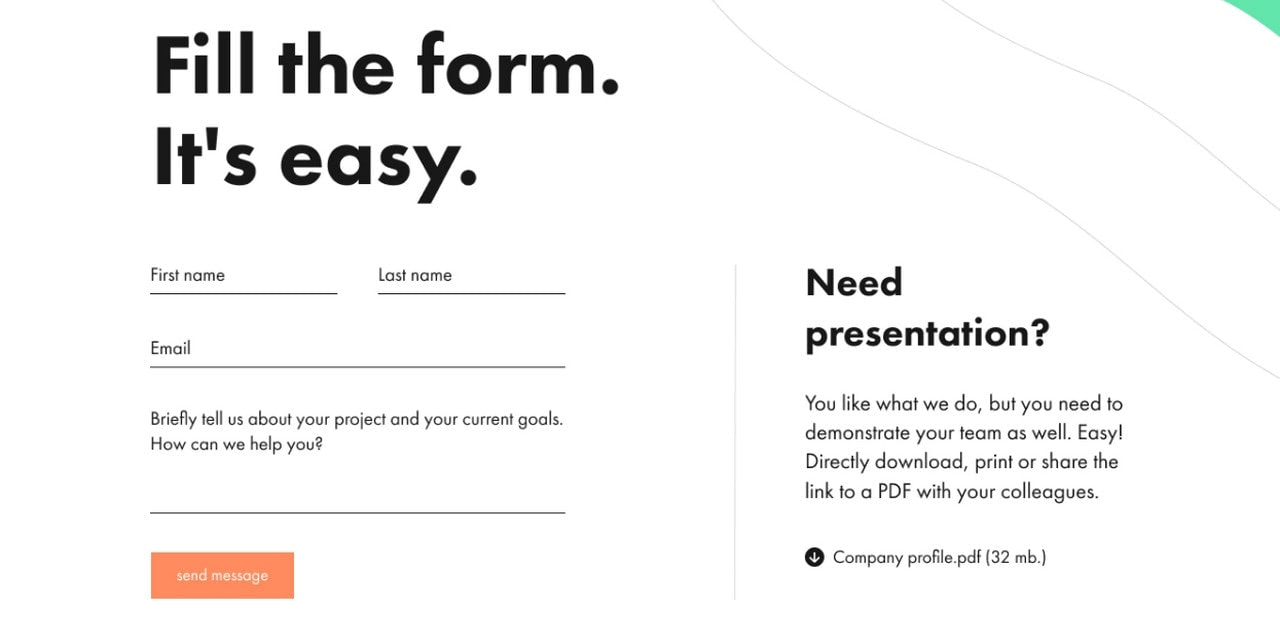 Collection of Inspiring Web Form Examples
