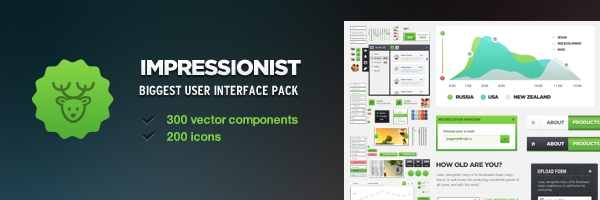 Impressionist UI - User Interface Pack