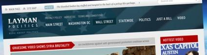 Layman Politics – News and Politics Free PSD Website Template