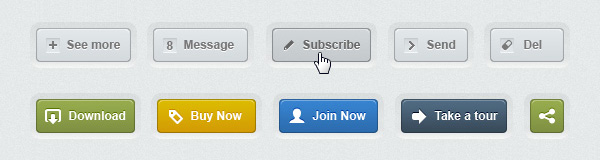 25+ Free and Premium Web Buttons PSD