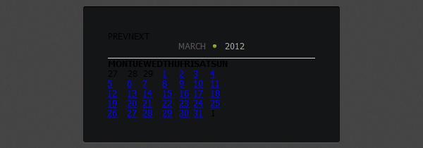 How to Create Calendar using jQuery and CSS3 - Designmodo