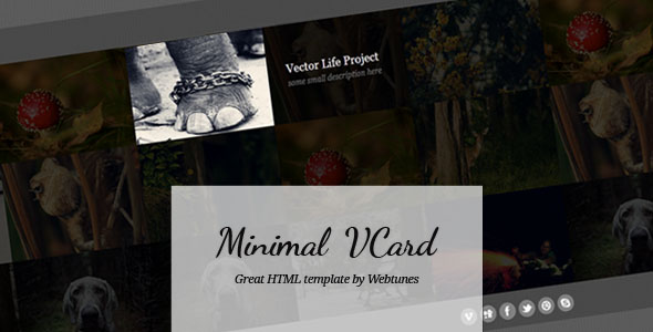 Free Virtual Business Card VCard HTML Website Templates And - Virtual business card template