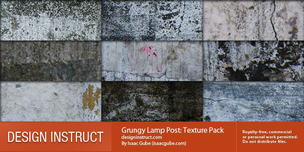 Grungy Lamp Post Textures