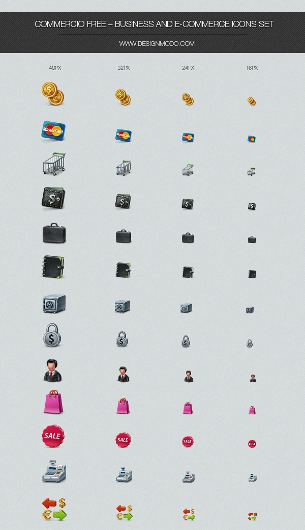 Commercio Free - Business and e-Commerce Icons Set
