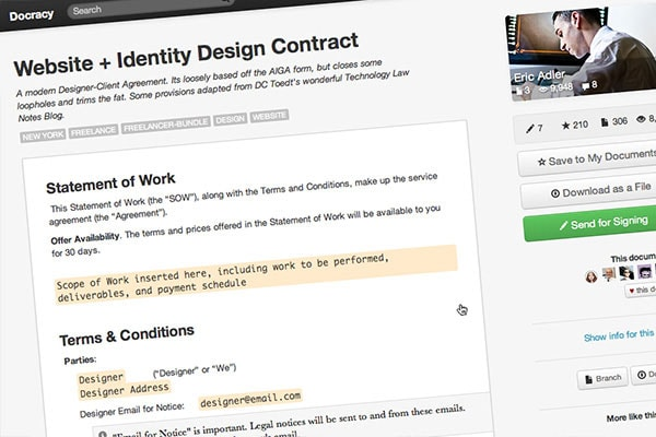 5 Essential Contract Templates For The Freelance Designer Designmodo
