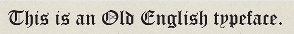 Old English or Black Letter