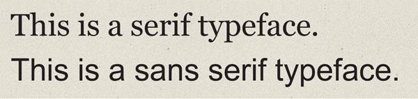 Serifs vs. Sans Serifs