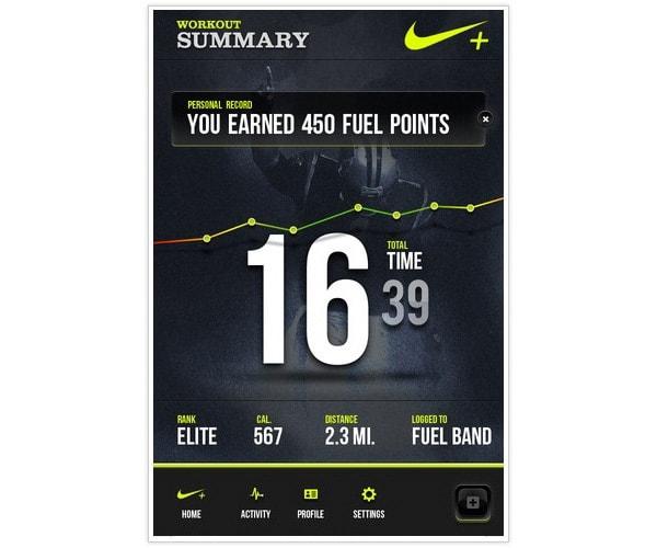 Nike Fuel+ App Concept