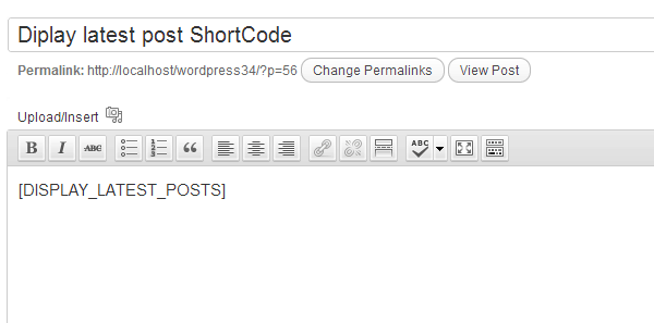 WordPress Shortcodes Image 1