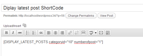 WordPress Shortcodes Image 3