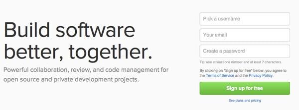 GitHub Sign Up