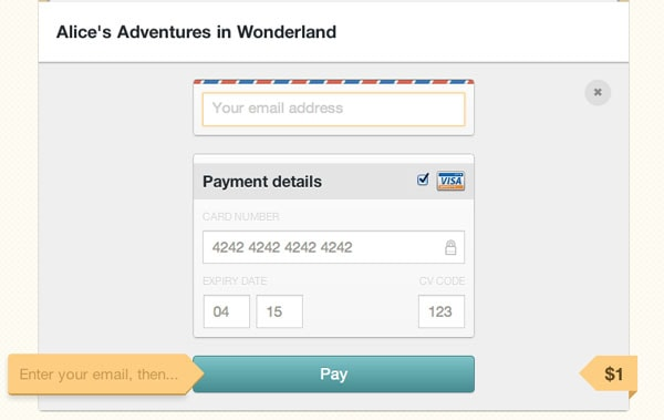 Gumroad Credit Card UI Design Pattern