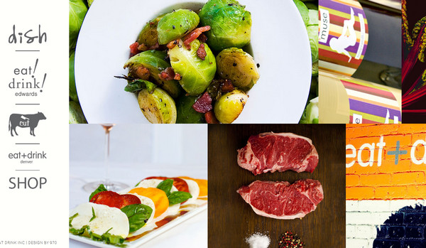 Modern food related website designs best examples designmodo