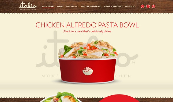 Modern food related website designs best examples for Cuisine site
