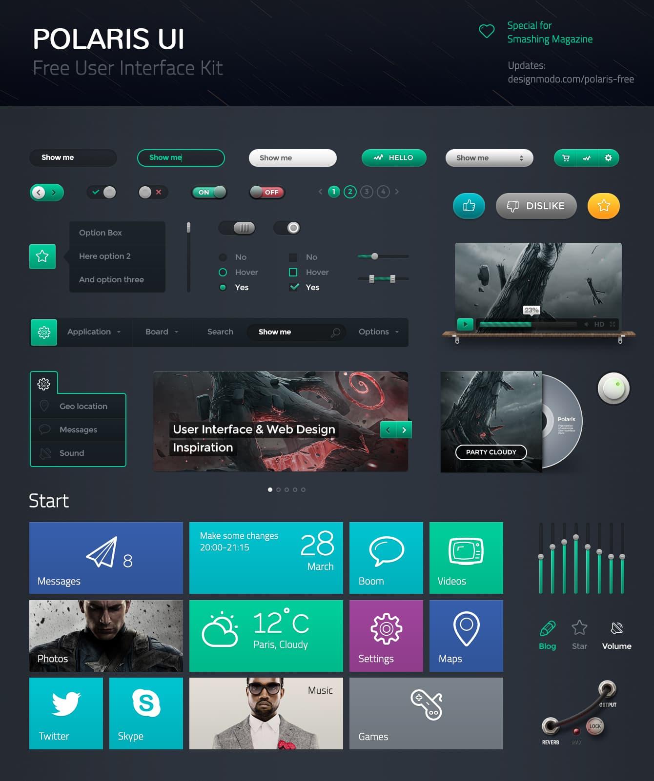 Polaris UI Free - User Interface Pack - Designmodo
