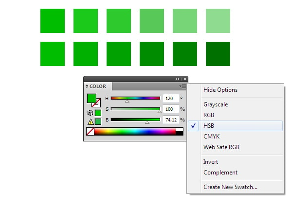 how to set colours in illustrator