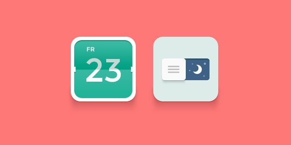 Calendar and Night Icon