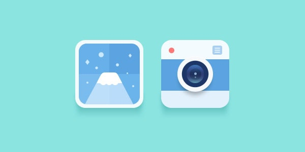 Two Flat Icons