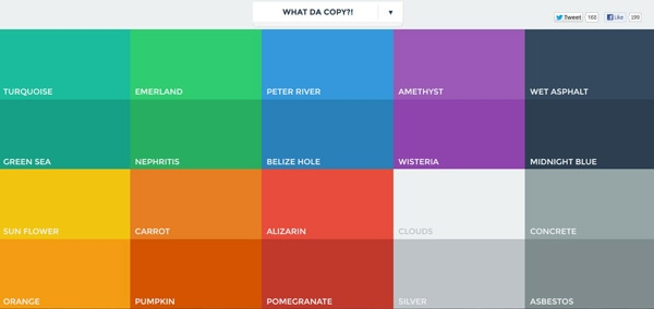 Popular Colors making it work: flat design and color trends - designmodo