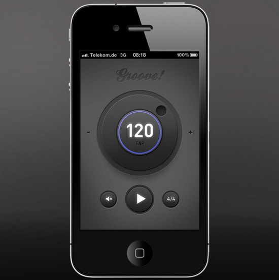 Groove! Simple metronome App by Tom Reinert