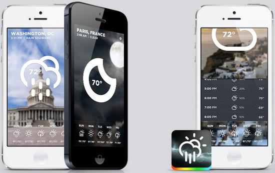 Morning Rain - iOS Weather App by Roberto Nickson