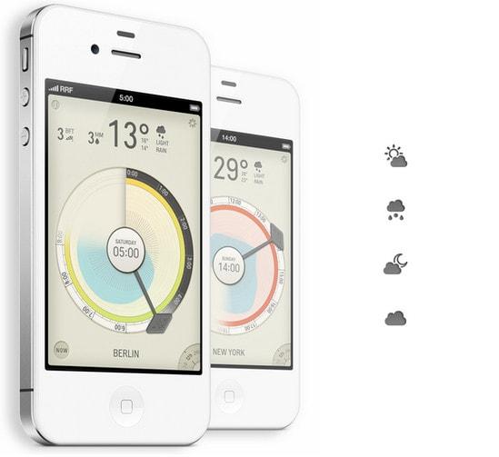 Beautifully Designed Weather Mobile Apps - Designmodo
