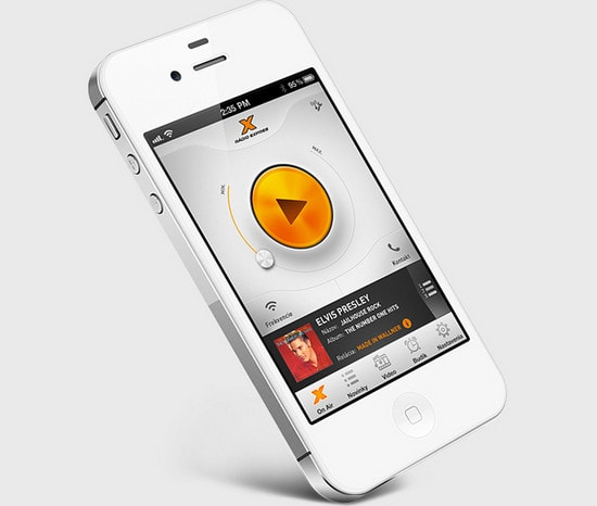 Radio Expres iOS app by Martin Schurdak