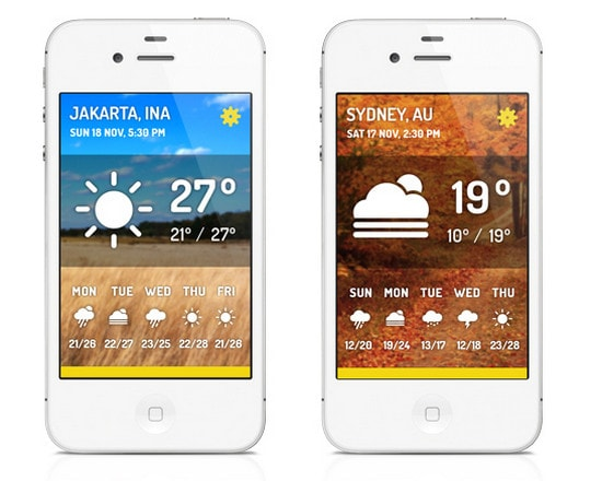 WEATHERIA  iOS APP by First Draft Studio