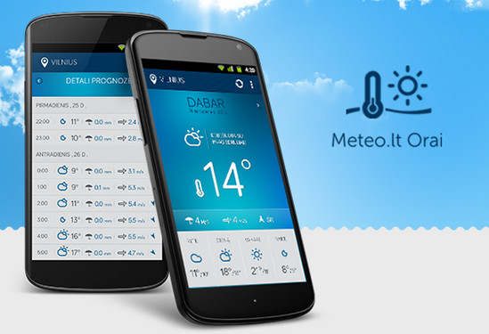 Weather Forecast Mobile App by Saulius Kirklys