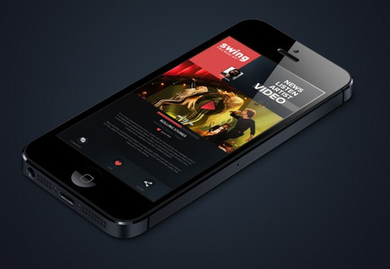 iPhone Music App. Concept