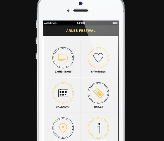 Arles Festival, iPhone App V2.0