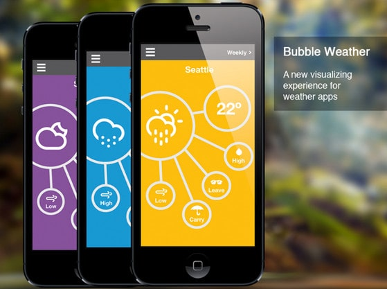 Bubble weather app by Pamela Rodriguez