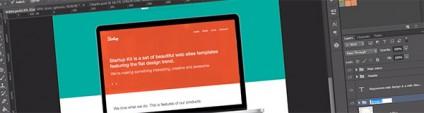 Create a Website Flat Design in Photoshop using Flat UI (Video Tutorial)