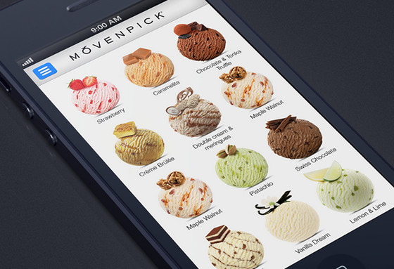 Movenpick ice-cream app by Alex Bender